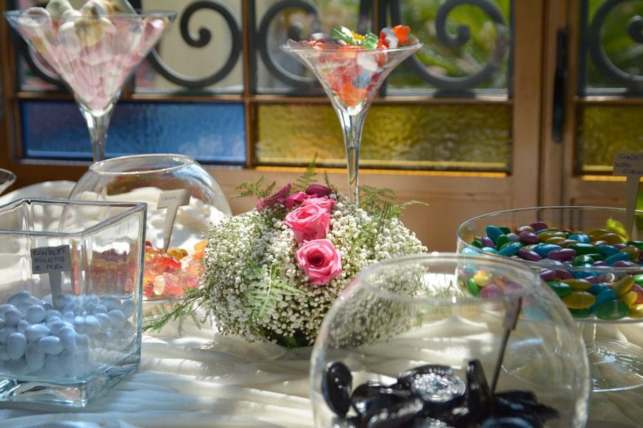 tavolo confettata matrimonio