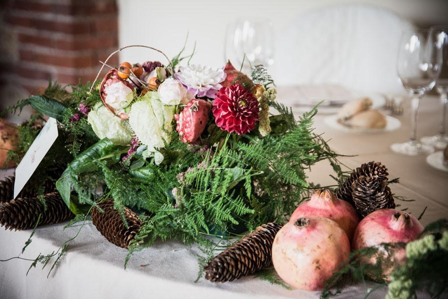 matrimonio con melograno, matrimonio autunno, frutti e colori autunno matrimonio