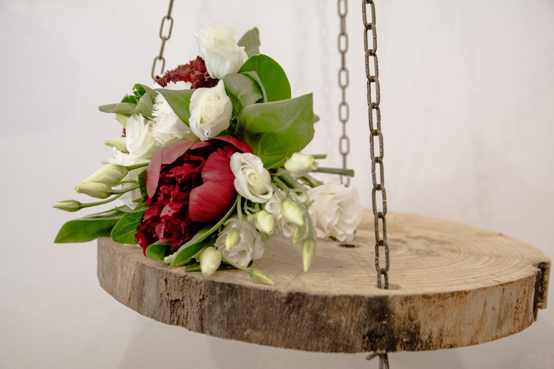 bouquet matrimonio peonia granata
