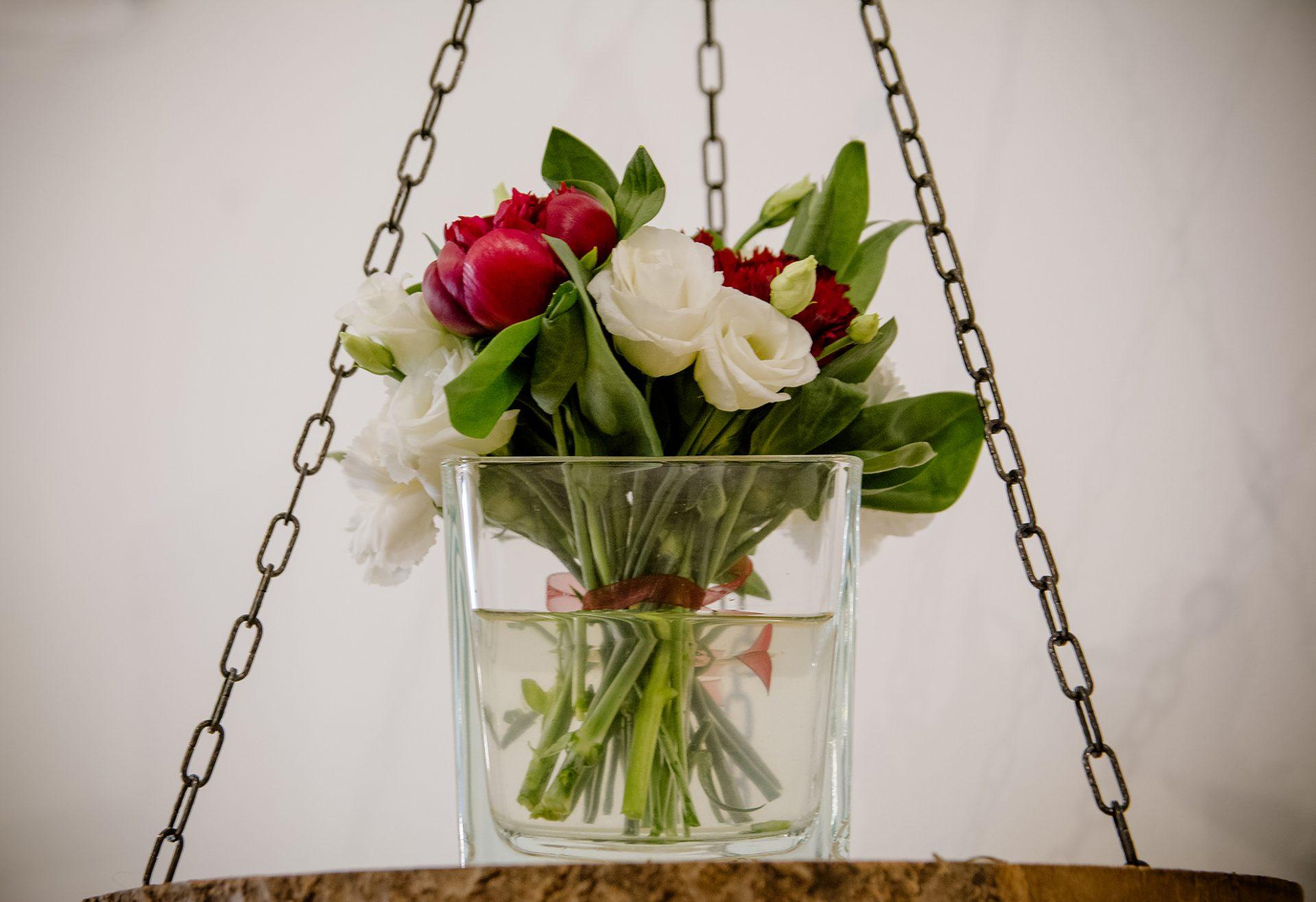 composizione vaso in vetro