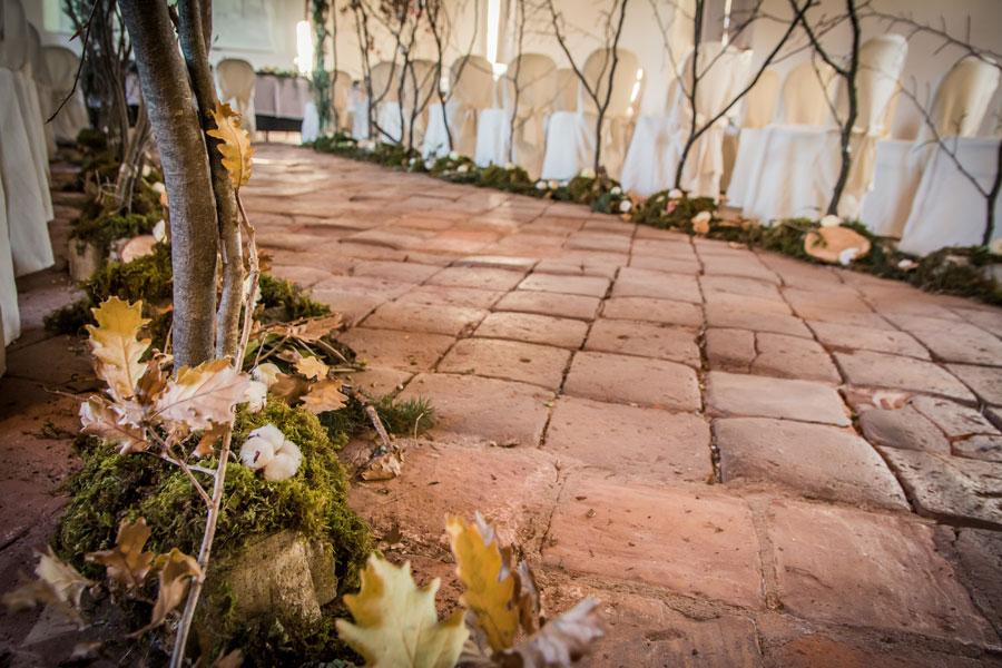 navata per allestimento bosco con rito simbolico