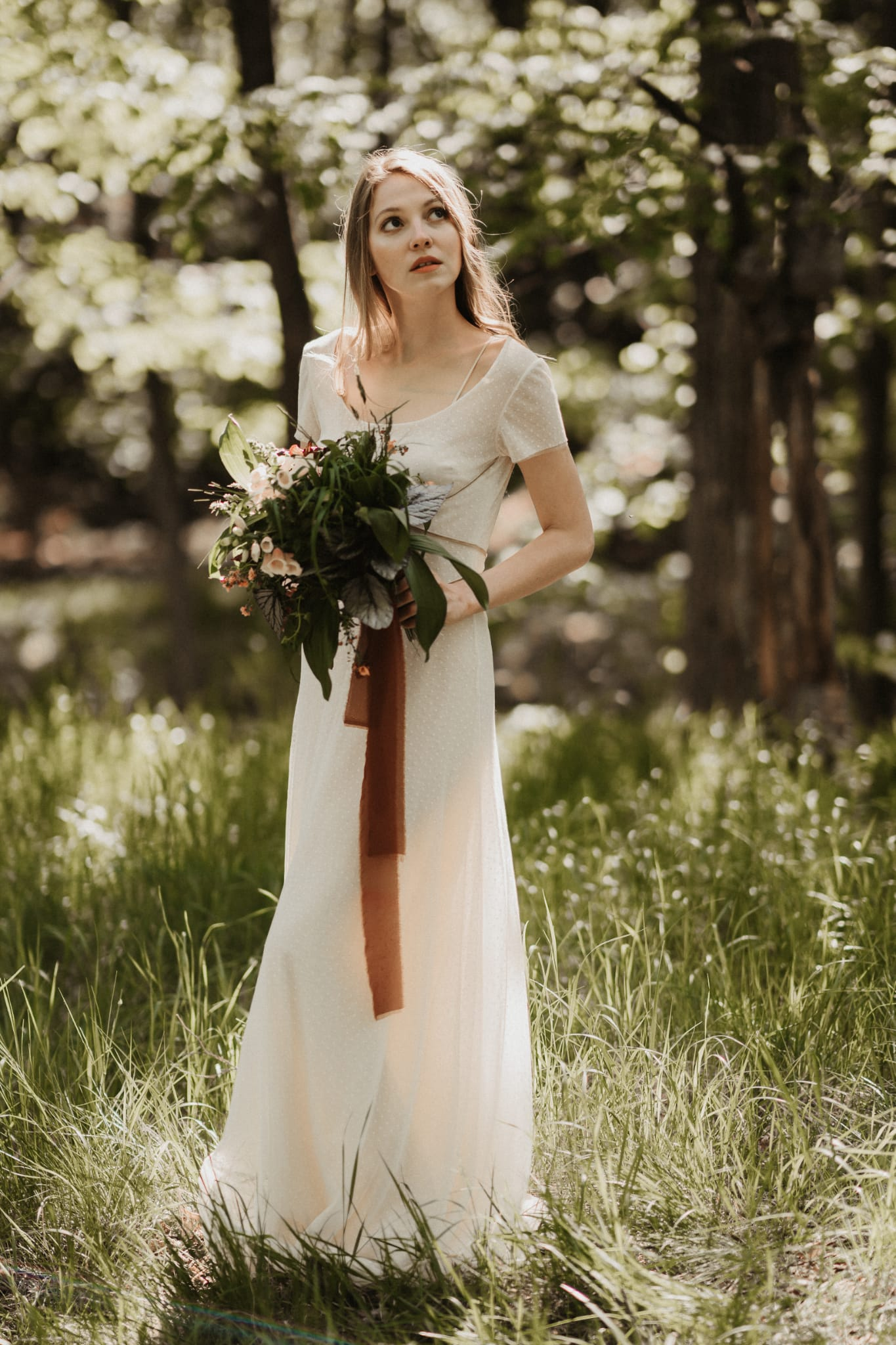 shooting celtico con sposa nel bosco